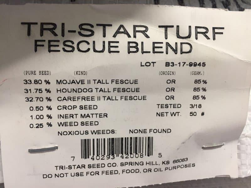 Tri Star Grass Seed 50 Lb Bag