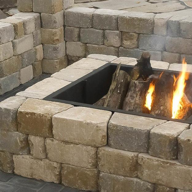 Romanstone Madera Fire Pit Kit – SQUARE - Romanstone Madera Fire Pit Kit - SQUARE - Pine Landscape