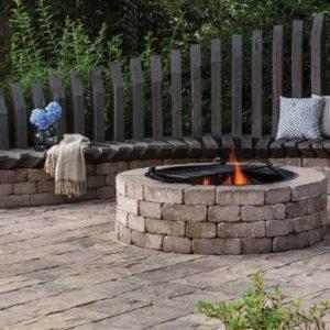 Unilock Sunset Fire Pit Kit Round Pine Landscape